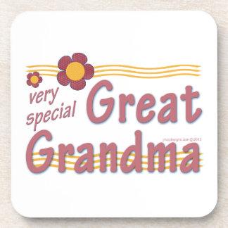 Very Special Great Grandma pink Beverage Coaster