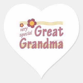 Very Special Great Grandma pink Heart Sticker