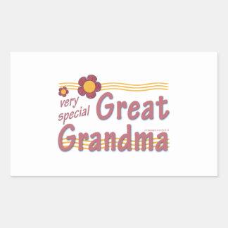 Very Special Great Grandma pink Rectangular Sticker
