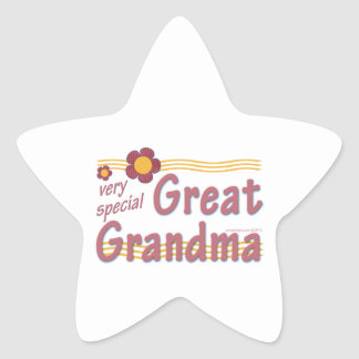Very Special Great Grandma pink Star Sticker
