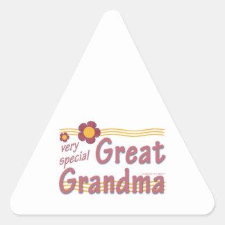 Very Special Great Grandma pink Triangle Sticker