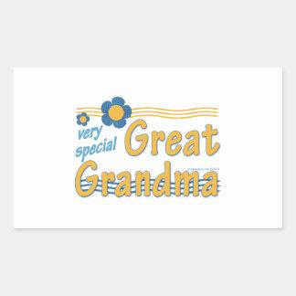 Very Special Great Grandma Rectangular Sticker