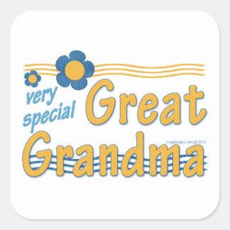 Very Special Great Grandma Square Sticker
