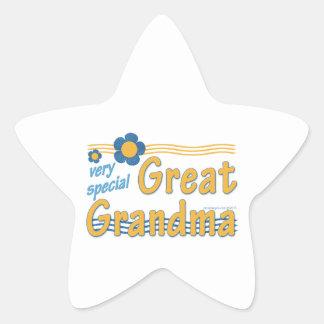 Very Special Great Grandma Star Sticker