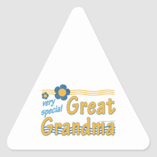 Very Special Great Grandma Triangle Sticker