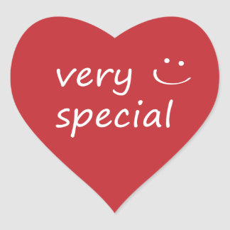 Very Special. Heart Sticker