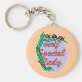Very Special Lady Mother's Day Gift Basic Round Button Keychain