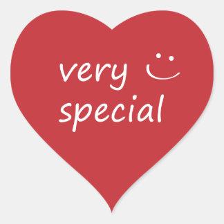 Very Special. Heart Sticker