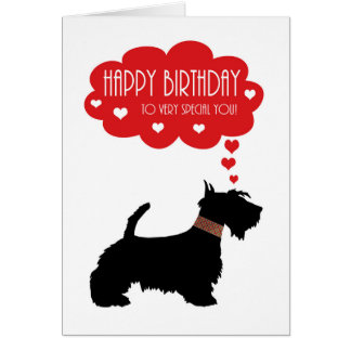 Very Special You With Scottish Terrier - Scottie Card