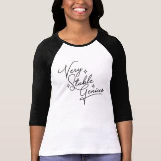 Very Stable Genius - cursive T-Shirt