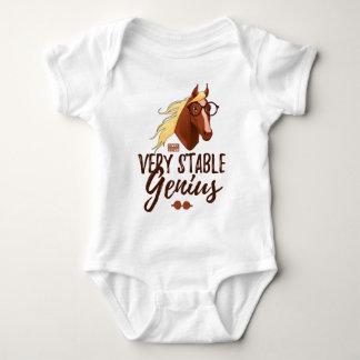Very Stable Genius Tweet President Trump Political Baby Bodysuit