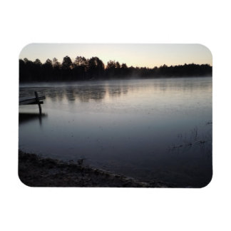 Very still lake in a late fall freeze magnet