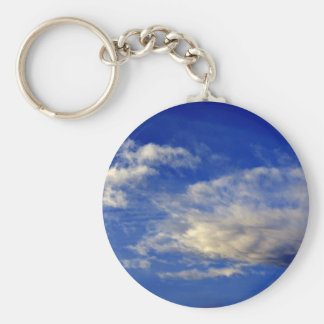 Very structured cloud in a beautiful blue sky keychain