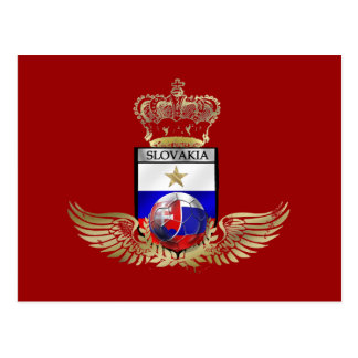 Very Stylish gold winged flag of slovakia gifts Postcard