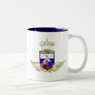 Very Stylish gold winged flag of slovakia gifts Two-Tone Coffee Mug