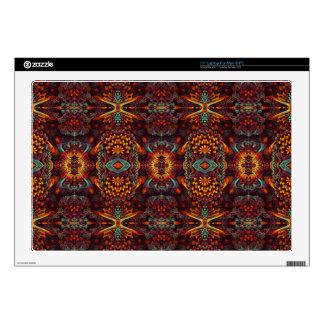 "Very stylish orange Fractal Art Design 17"" Laptop Decal"