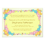 Very Sweet Candy Themed Child Birthday Party 5x7 Paper Invitation Card