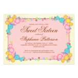 Very Sweet Candy Themed Sweet Sixteen Birthday Personalized Invite