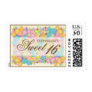 Very Sweet Candy Themed Sweet Sixteen Birthday Postage