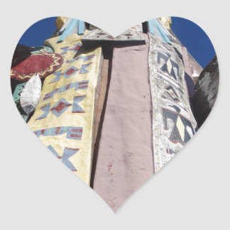 Very Tall Native American Heart Sticker