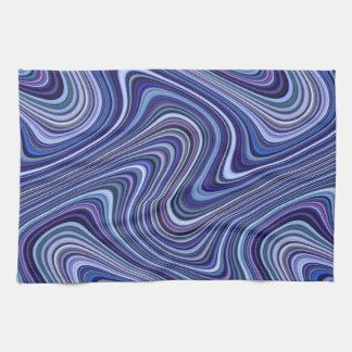 Very Unique Blue Purple Pink Curvy Line Pattern Towel