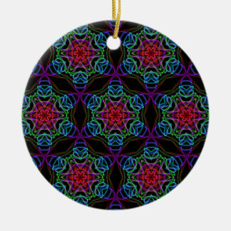 Very unique gift, LED light pattern Ceramic Ornament