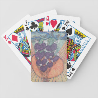 very unique heart shapes bicycle playing cards
