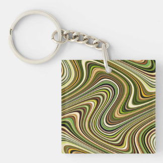 Very Unique Multi-Color Curvy Line Pattern Keychain