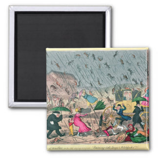 Very Unpleasant Weather, or the Old Saying 2 Inch Square Magnet