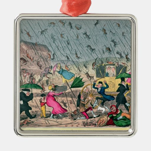 Very Unpleasant Weather, or the Old Saying Christmas Tree Ornament