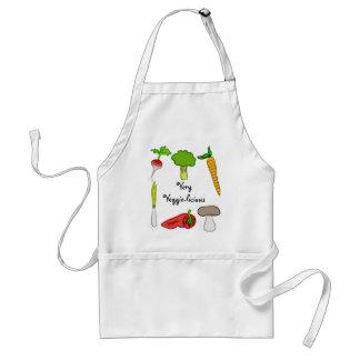 Very Veggie  Vegetables Broccoli Radish Carrot Art Adult Apron