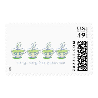 very, very hot green tea Postage