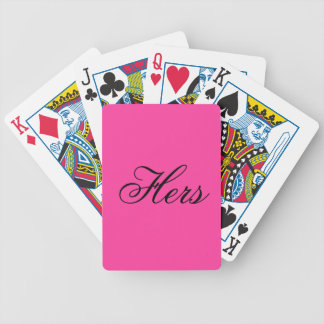 Very Very Pink Color Only Bright Pink Bicycle Playing Cards