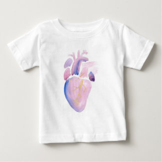 Very Violet Heart Baby T-Shirt