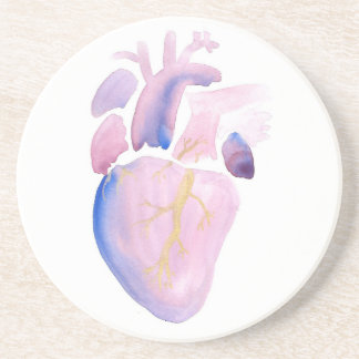 Very Violet Heart Drink Coaster