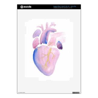 Very Violet Heart iPad 3 Decals
