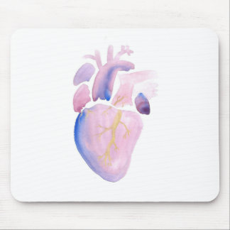 Very Violet Heart Mouse Pad