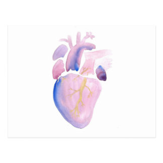 Very Violet Heart Postcard