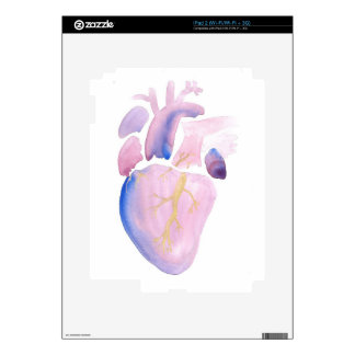 Very Violet Heart Skins For iPad 2