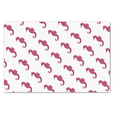 Beach Themed Very Violet Seahorse Tissue Paper