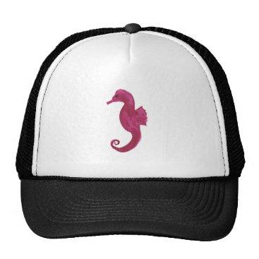 Beach Themed Very Violet Seahorse Trucker Hat