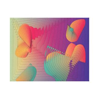 Very Warm Colours>Modern Fractual  Print Canvas Print