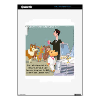 Very Wealthy Dog Funny iPad 2 Decals