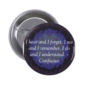 Very Wise Confucius Quotation Pinback Button