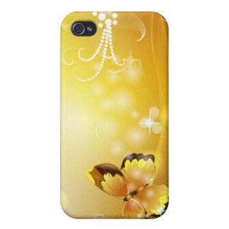 Very Yellow, Butterfly and Bubbles iPhone 4 Cases