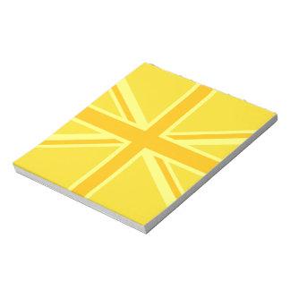 Very Yellow Union Jack British Flag Notepad