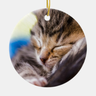 very young cement, sleeping christmas tree ornament