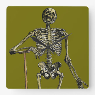 Vesalius: Skeletal System Square Wall Clock