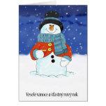 Vesele vanoce a stastny novy rok - Czech Snowman Cards