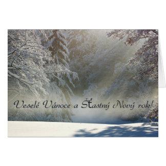 Veselé Vánoce a Šťastný Nový rok! Greeting Card